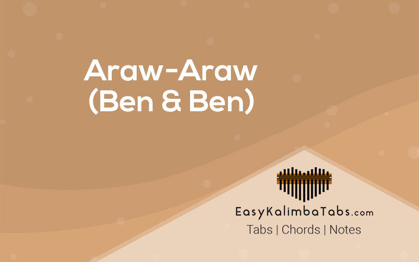 Araw Araw Kalimba Tabs and Chords