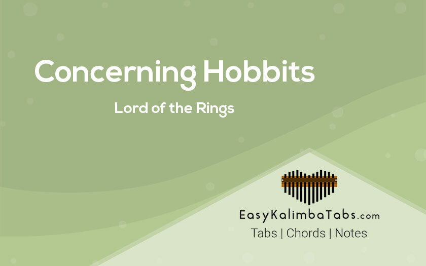 Concerning Hobbits Kalimba Tabs - Lord of the Rings