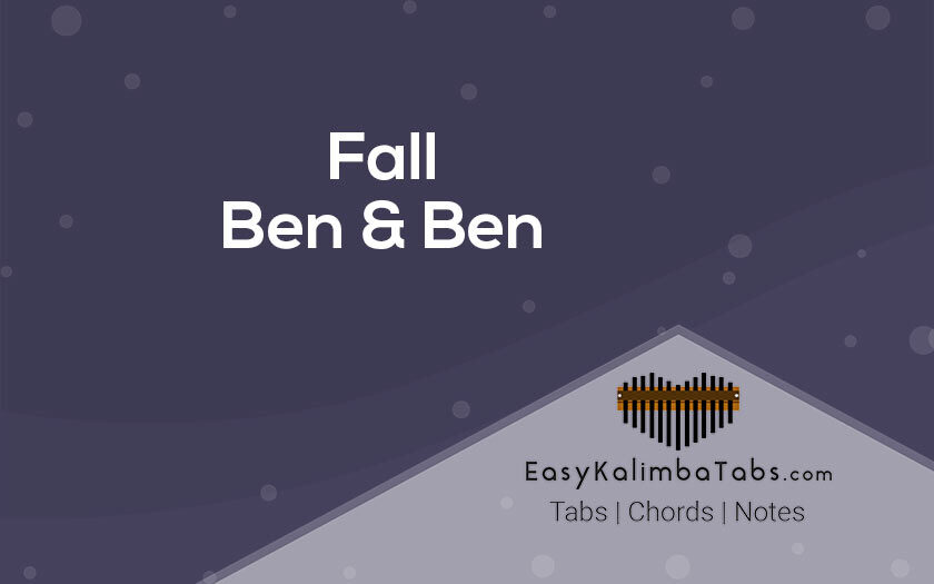 Fall Kalimba Tabs and Chords