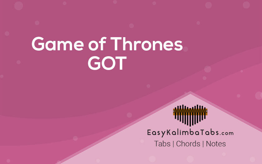 Game of Thrones Kalimba Tabs and Chords