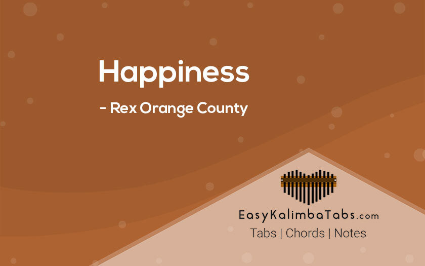 Happiness Kalimba Tabs by Rex Orange County