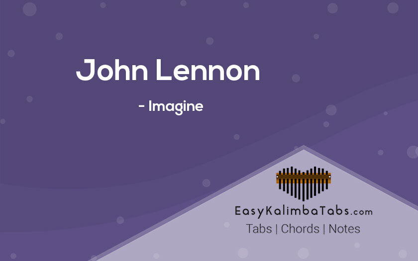 John Lennon Imagine Kalimba Tabs