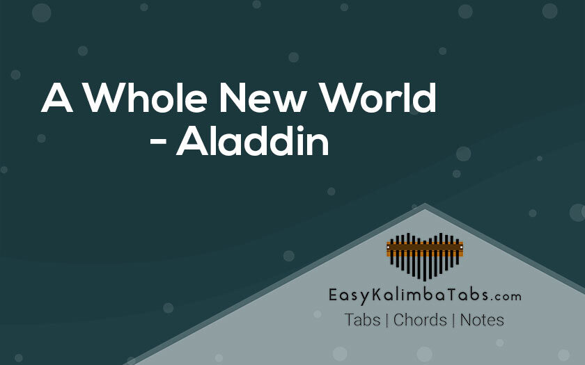 A Whole New World Kalimba Tabs