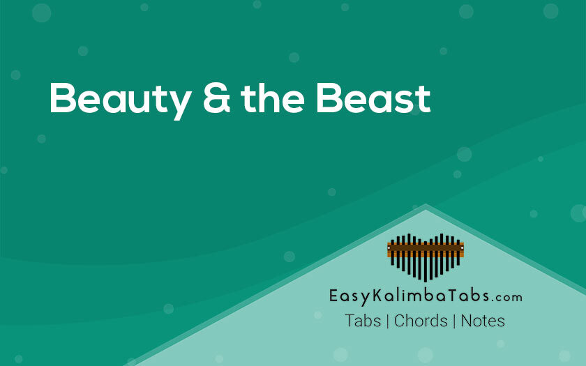 Beauty & the Beast Kalimba Tabs and Chords