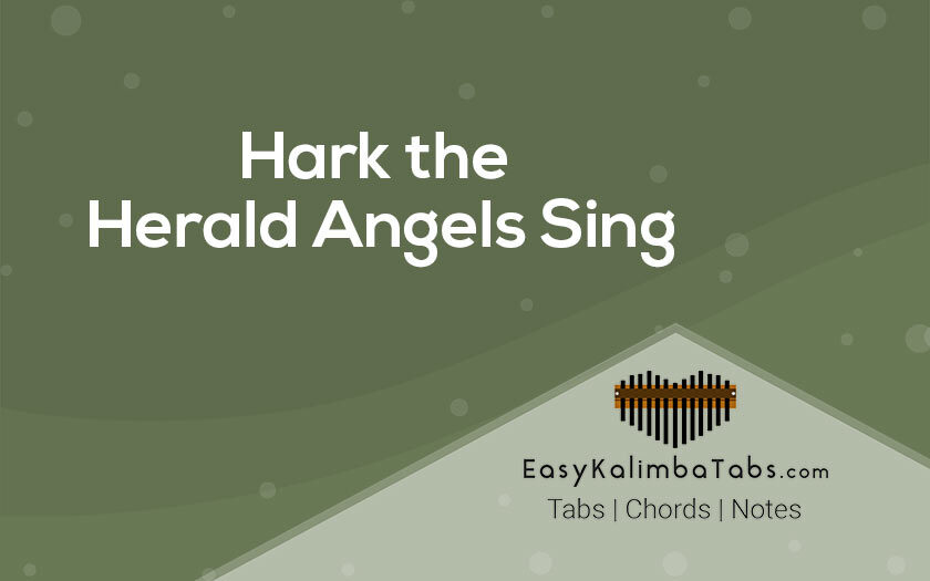 Hark the Herald Angels Sing Kalimba Tabs and Chords