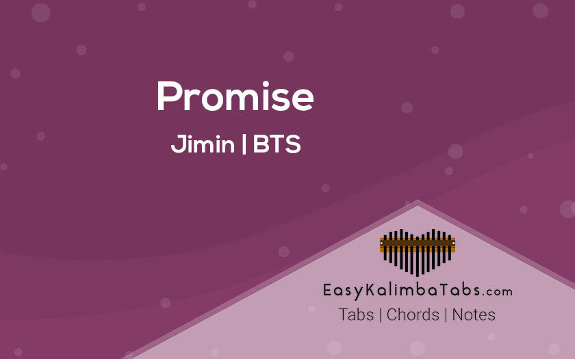 Promise Kalimba Tabs and Chords by Jimin and BTS