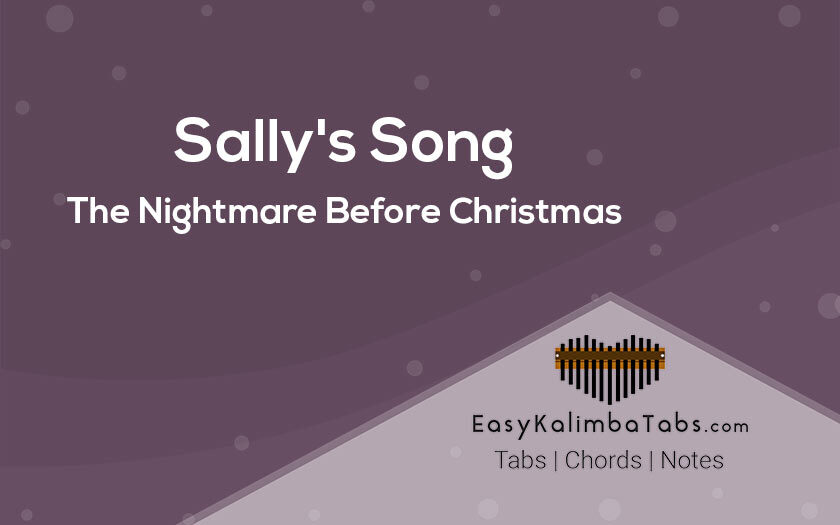Sally Song Kalimba Tabs and Chords by The Nightmare Before Christmas