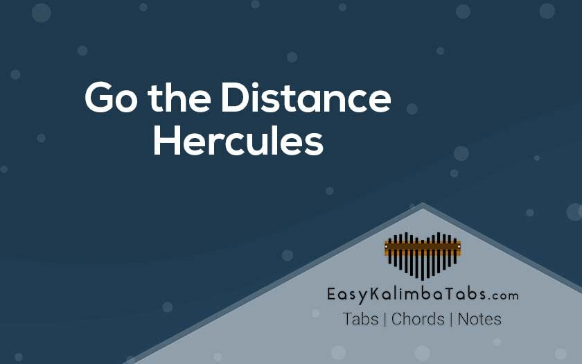 Go the Distance Kalimba Tabs and Chords from Hercules