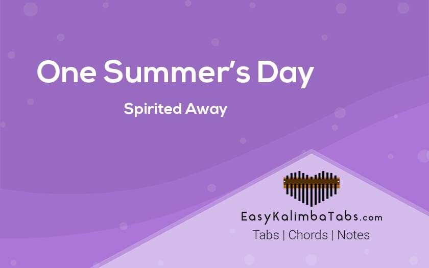 One Summers Day Kalimba Tabs and Chords