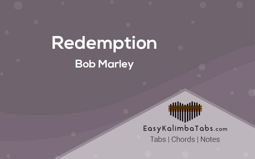Redemption Kalimba Tabs & Chords by Bob Marley
